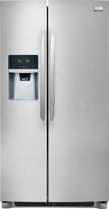 """Fghs2655pf Gallery Series 36"""" 25.6 Cu. Ft. Side-by-side Refrigerator With Adjustable Interior Storage Express-select Controls Puresource Ultra Ice & Water"""
