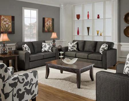 Fs3560-sl Verona Vi 2 Piece Bergen Living Room Set Sofa + Loveseat In Talbot