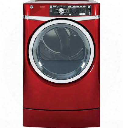 Gfdr485efrr 83. Cu. Ft. Electric Dryer With Built-in Riser Dryer Rack Detangle Assist Steam Refresh Steam Dewrinkle Led Light Stainless Steel Drum He