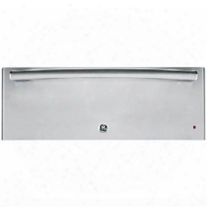 Pw9000sfss Wide 1.9 Cu. Ft. Capacity Ada Compliant Warming Drawer With Variable Temperature Humidity Control Frameless Drawer Front Half Rack On Indicator