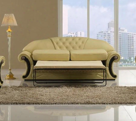 T36 Cleopatra Collection Traditional Leather Sofa