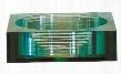 GVE450SQ Tempered Segmented Glass Vessel -