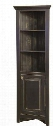 "Luke 465011 24"" Corner Cabinet with 2 Shelves 1 Door Fits 15"" Wall and Pine Wood Construction in Black"