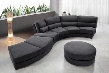 VG2T0599HL Contemporary Curvy LeatherLeather Match Sectional Sofa with Ottoman: