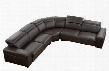 VGDIMNADIR-SECT Dima Nadir Sectional Sofa with 4 Retractable Headrests Pull Out Bottom Cushions and Full Top Grain Italian Leather Upholstery in