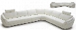 VGKK1377FL Calla Collection Modern White Full Leather Sectional