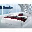 VGWCPISACK Modrest Pisa Platform California King Size Bed with Leatherette Upholstery in