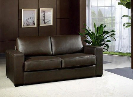 Vg2t0582 Dual Modern Chocolate Brown Bonded Leather Sofa