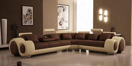 Vgev4087hl Leatherleather Match Match Sectional Sofa With