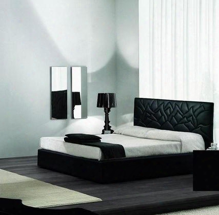 Vgsmlotobck Loto Modern Eco-leather Bed: Black California