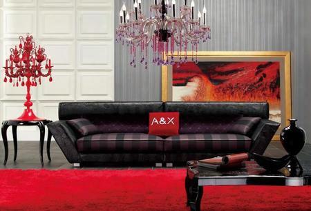 Vgunax007 Transitional Black 3 Piece Living Room Sofa