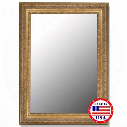 "100908 31"" X 67"" Milano Golden Classic Framed Wall"