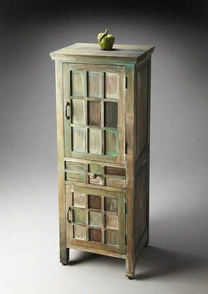 2063290 Artifacts Collection Accent Cabinet In Brown And Green