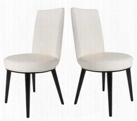 20901-61-2pk Artesia Set Of Two Dining Chairs In White Leatherette
