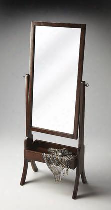 2254282 Espresso Cheval Mirror With Storage