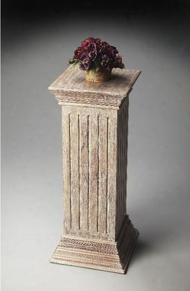 2379290 Artifacts Collection Pedestal With Transparent Wood