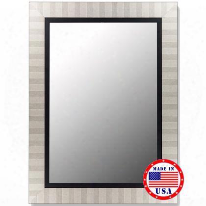 """253208 32"""" X 68"""" Parma Silver / Satin Black Liner Framed Wall"""