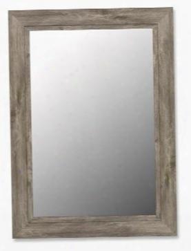 "258509 58"" X 85"" Antique Weathered Grey / Black Liner Framed Wall"