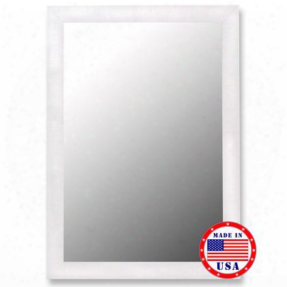 "270608 29"" X 65"" Nuevo Glossy White & Petite Ribbed Framed Wall"