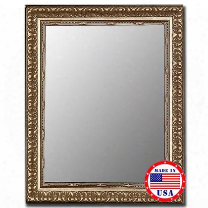 "320203 35"" X 45"" Antique Silver Framed Wall"