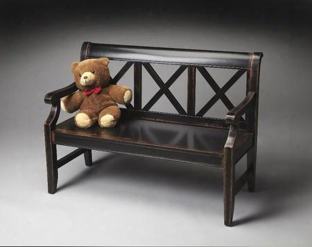 "5048250 Masterpiece Collection 15"" Seat Height Bench In Midnight Rose"