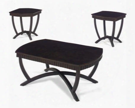 80270 Series Occasional Tables Set Of 3 In Black