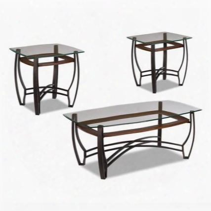 8677 Horizon Collection Three-piece Cocktail Table Set With