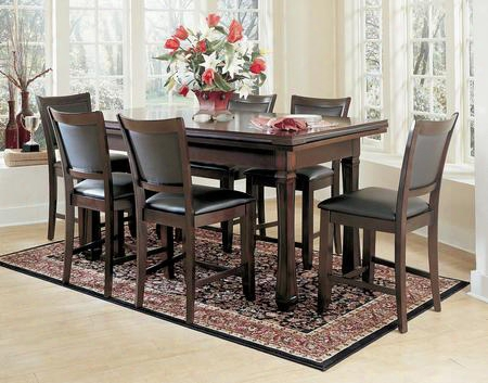 Burlington Series 100717sd 3-in-1 Game Table Set With 6 Leatherette Chairs Craps Table Drink Holder Poker Chip Holder And Flip Top Converts Into Dining