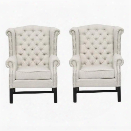 Fairfield Tov-63102-b2 Living Room Set With 2 Linen Club Chairs In
