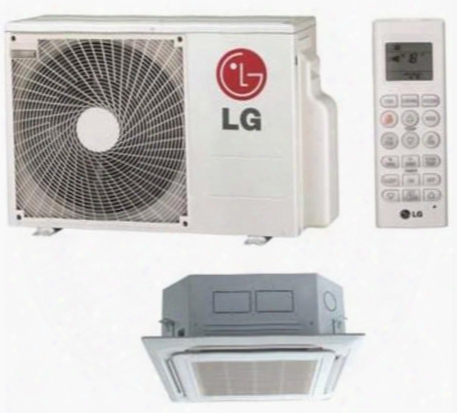 Lc180hv 18000 Btu Single Zone Ceiling Cassette Mini Split Ac With Heat R-410a Refrigerant Jet Cool Swirl Wind (luu180hv Outdoor/lcn180hv Indoor) In