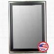 "204708 30"" x 66"" Stainless / Satin Black Framed Wall"