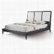 30703-80-EK 83x92x53 Bonita Eastern King Bed With Upholstered Headboard and Mocha On Oak
