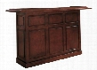 "Lexington Series 600011ET 72"" Home Bar With Open Shelves and Removable Ice Storage and Bottle Wells in English Tudor"
