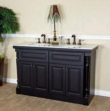 "605522a 55"" Double Sink Vanity - Dark"