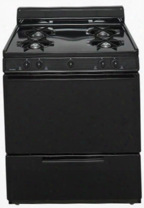 "Bfk100bp Ada Compliant Black 30"" Cordless Battery Spark Gas Range With 3.9 Cu. Ft. Capacity Four Cooktop Burners Lift Up Top 4"" Porcelain Backguard And 17"