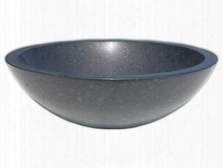 Eb_s002ba-h Stone Vessel Black Honed Basalt Sink
