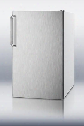 "Fs407lxsstb 20"" 2.8 Cu.ft. Capacity Under Counter Upright Freezer Manual Defrost -20 Degree Capable Pull-out Drawers: Stainless"