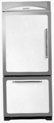 "Hcbmr19lwht 30"" Classic Energy Star Bottom Freezer Refrigerator With 18.5 Cu. Ft. Capacity Adjustable Spillsaver Glass Shelving Humidity Contdolled Drawers"