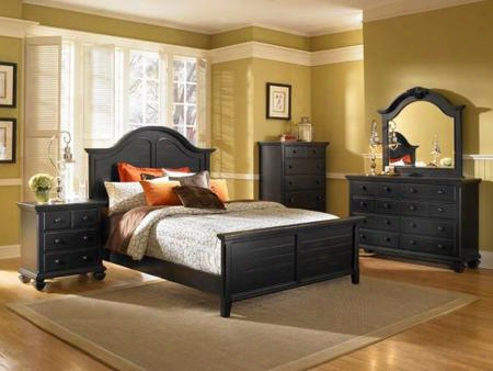 Mitrrenbedq Mirren Pointe Arched Panel Bed: Dark Chocolate