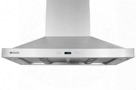 "Px05-i36 36"" Island Mount Ducted Range Hood With 900 Cfm Centrifugal Blower 4 Speed Heat Touh Sensitive Electronic Control Led Lighting System With Lcd"