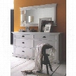 814495012512 Halifax 6 Drawer Dresser in White