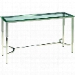 "ACD-20502-03-G 52"" Sheila Rectangular Glass Top Console Table With Brushed Stainless Steel"