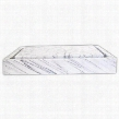 EB_S006CW-P Stone Vessel Rectangular Infinity Pool Sink in White Carrara
