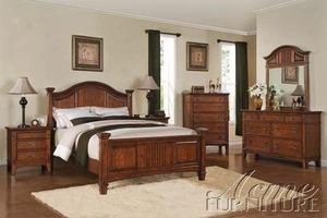 19420q Harvest Mission Queen Poster Bed In