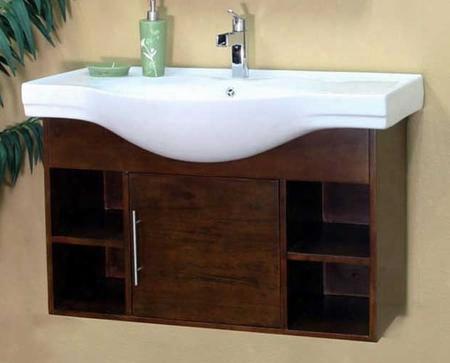 "203132-s 40.5"" Single Wall Mount Style Sink Vanity - Wood -"