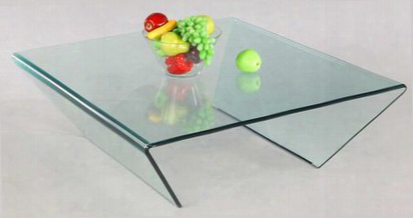 72102-sq-ct Square Bent Glass Cocktail