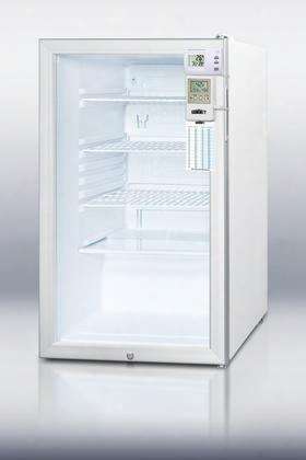 "Accucold Series Scr450lbi7medsc 20"" 4.1 Cu.ft. Capacity Auto Defrost Refrigerator Commercially Listed Factory Installed Lock Digital Thermostat Reversible"
