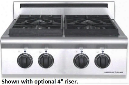 "Arsct-244l 24"" Legend Series Slide-in Gas Rangetop With 4 Sealed Burners Automatic Electronic Ignition Analog Controls And Commercial Grade Cast Iron Grates"