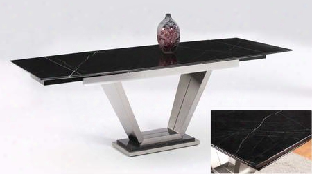 Jessy-dt Jessy Dining Table - Black Marquis Solid Marble Dining