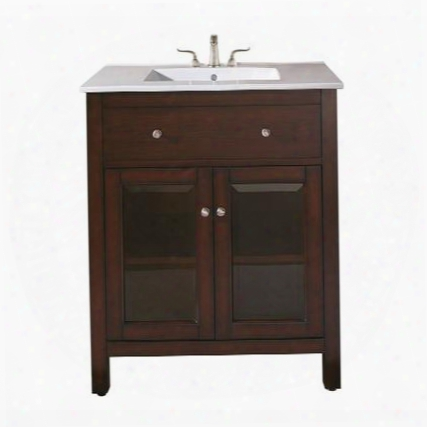 Lexington-vs24-le Avanity Lexington 24 In. Vanity With Integrated Vc Top In Light Espresso